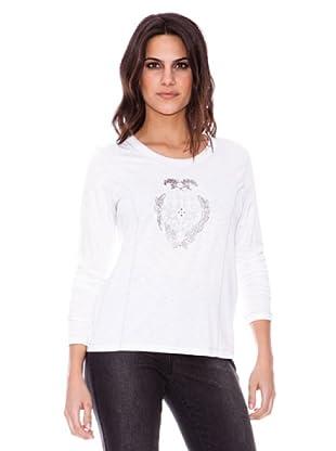 Steilmann Camiseta ml Con Aplicaciones (blanco)