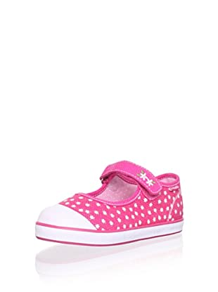 Pablosky Kid's Mary Jane Sneaker (Twill Fuchsia)