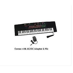 54 Keys Electronic & Musical Keyboard Piano Black