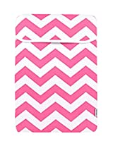 TopCase Chevron Series Pink Sleeve Bag Cover for New Released Macbook 12 12-Inch Model : A1534 Retina Notebook