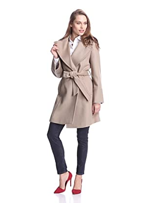 Elie Tahari Women's Chelsea Belted Wrap Coat (Taupe)