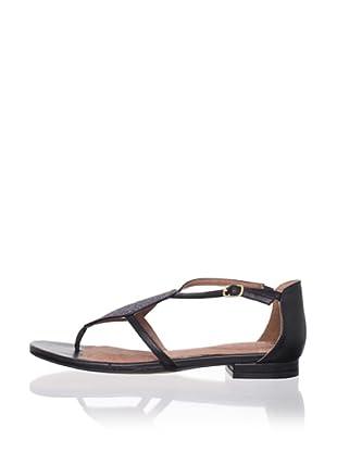 Corso Como Women's Soir Flat Sandal (Black/Pewter)