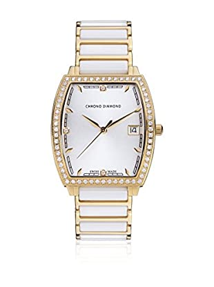 Chrono Diamond Reloj de cuarzo Woman 10310 Leandra Blanco