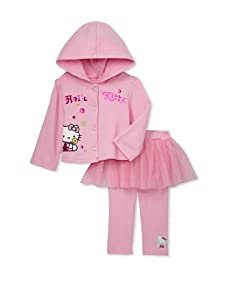 Hello Kitty Girls 2-Piece Hooded Jacket Set (Pink)