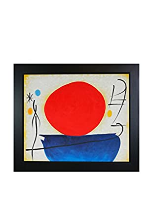 Joan Miro Ohne Titel (The Red Sun) Framed Hand-Painted Reproduction