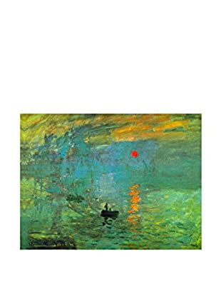 Especial Arte Leinwandbild Sorgere Del Sole - Claud Monet Multicolor