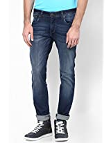 Blue Low Rise Slim Fit Jeans Wrangler