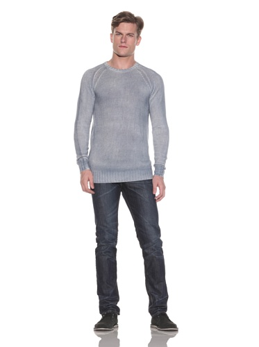Gypsy 05 Men's Belmont Knit Crewneck Sweater (Grey Blue)