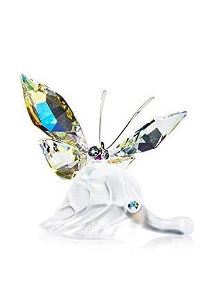 Swarovski Sparkling Butterfly on Leaf Figurine