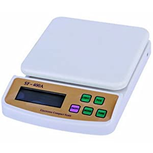 ACE Kitchen Digital Weighing Scale SV3-SF-400, Plastic ( White, 6 Kg )