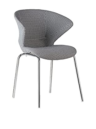 LO+DEMODA Set Silla 2 Uds. Metal Prisma Pattern