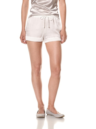 Nicole Miller Women's Satin Lounge Short (Alabaster)