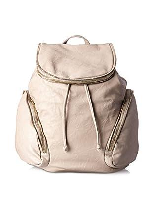 Nila Anthony Women's Zipper Detail Backpack, Gray