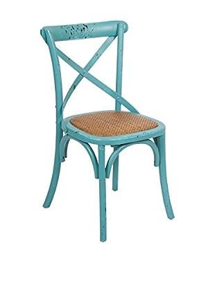 COLONIAL CHIC Stuhl blau