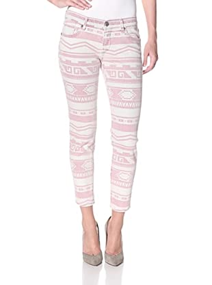 Driftwood Women's Navajo Crop Skinny Jean (Pink)