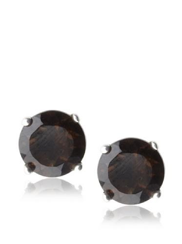 Catherine Angiel Stud Post Earrings, Silver/Smokey Topaz