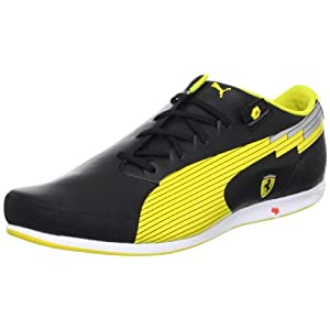 Puma evoSPEED Men's Leather Sneakers - Black and Yellow