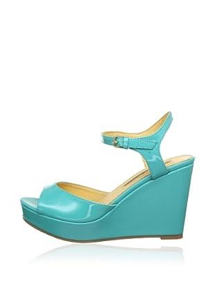 Buffalo London 312-4468 PATENT PU 143033 - Zapatos de pulsera  mujer (Turquesa)