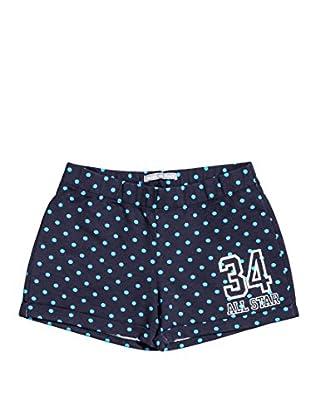 Converse Shorts Fl Pois (Marino / Turquesa)
