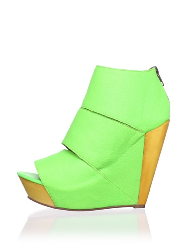 Messeca Women's Coraline Wedge Sandal (Neon Green)