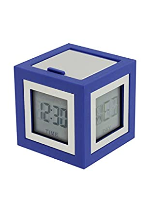 Lexon Cubissimo Clock, Blue