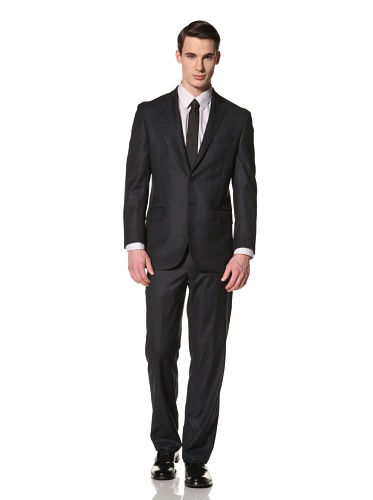 Yves Saint Laurent Suits in Loro Piana Wool Men's Nailhead Classic Suit (Navy)