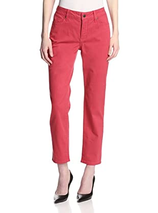 NYDJ Women's Alisha Fitted Ankle Jean (Red Geranium)