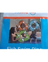 Trueliving Inflatible Fish Swim Ring Blue