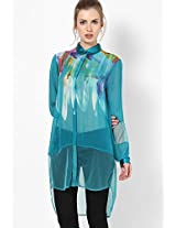 Georgette Blue Tunic Satya Paul