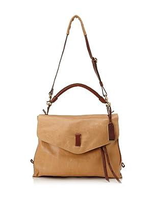 Gryson Women's Cybelle Large Belted Strap Shoulder Bag (Camel)