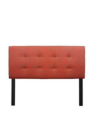 Sole Designs 8-Button Tufted Atomic Headboard (Red/Grey)