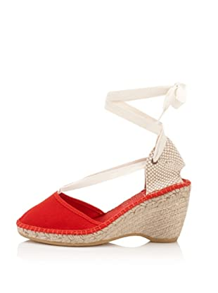 André Assous Women's Holiday Espadrille (Red)