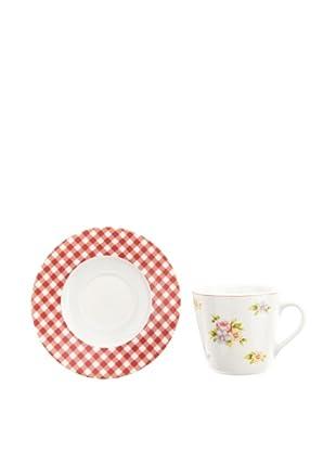 Creatable 166273 Emily 6-er Set Kaffeetasse 20 cl + Untertasse 14 cm