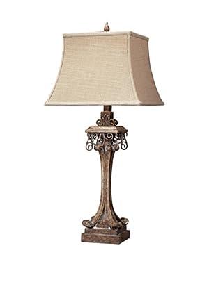 Stanton Distressed Table Lamp, Corbel