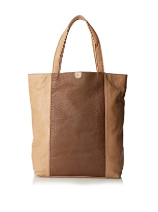 Charlotte Ronson Women's Mixed Exotic Tote (Sand)