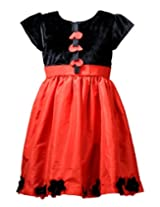 Peaches Girls' Dress (D-RBVF_Red_12-13 Years)
