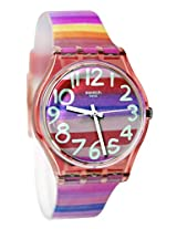 Swatch Astilbe GP140 Pink Round Dial Analogue Watch - For Women
