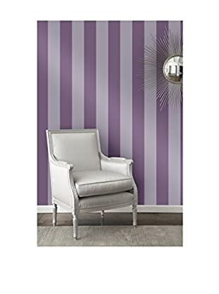 Tempaper Designs Stripe Self-Adhesive Temporary Wallpaper, Lilac, 20.5