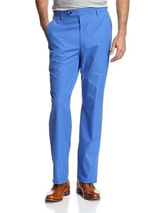 Oxxford Men's Solid Poplin Pant (Light Blue)