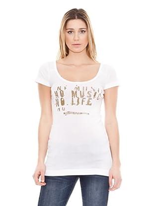 Calvin Klein Jeans Camiseta Cuello Redondo Music M / C (Blanco)