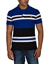 US Polo Assn. Men's Button Front Polo (USTS1908_Multi-Coloured_S)