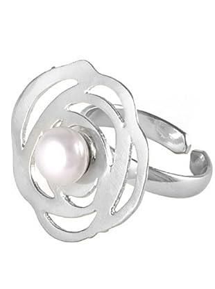 Córdoba Joyeros Sortija Espirales Perla Plata