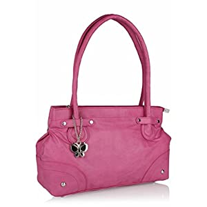 Butterflies Stylish Hand Bag (Pink)_BNS 0315
