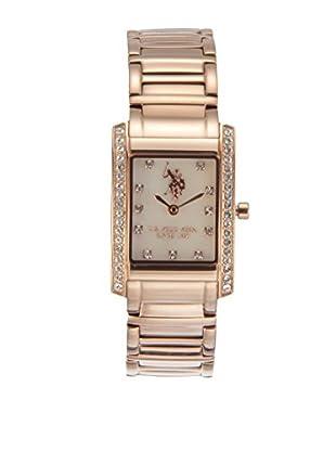 U.S. POLO ASSN. Uhr mit japanischem Quarzuhrwerk Liberty rosé 33 mm
