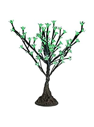 LED Clear Cherry Blossom Tree, Green Bulbs