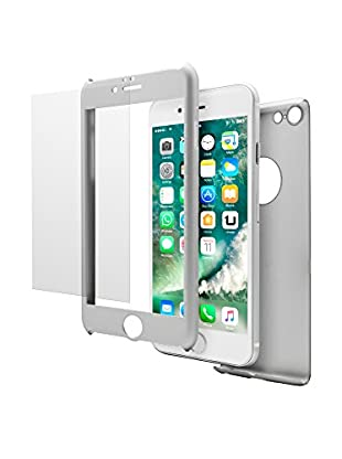 UNOTEC Cover 2 tlg. Set Pack Full Protect iPhone 7 Plus grau
