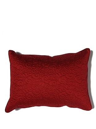 HomeTrends Cojín Pearl Ricamato (Rojo)