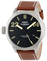 Haemmer Men's HQ-02 Dublin Stainless Steel Brown Leather Date Limited Edition Watch
