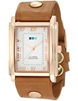 La Mer Collections Women's LMHOZ5002 Oversize Square Collection Sand Oversize Square Watch