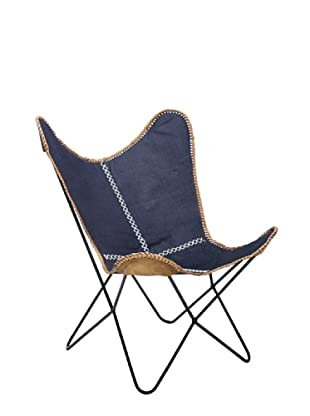 Kare Sillón Butterfly Denim